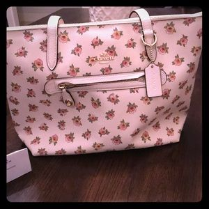 Coach spring line floral pattern purse